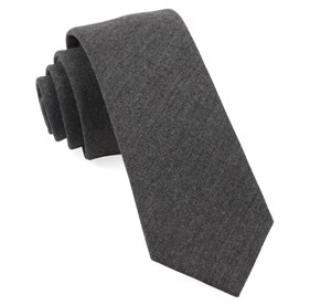 Swansea Solid Charcoal Ties
