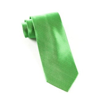 Herringbone Kelly Green Tie