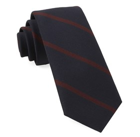 Midnight Navy Newport Stripe ties