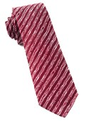 Ties - Timber Stripe - Burgundy