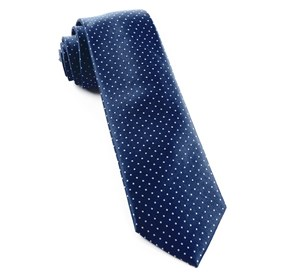 Navy Mini Dots boys ties