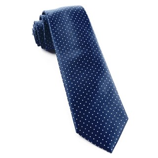 Mini Dots Navy Tie
