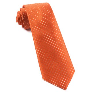 Mini Dots Orange Tie