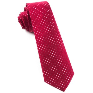 mini dots red ties