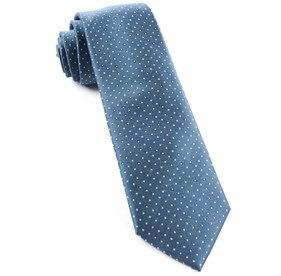 Whale Blue Mini Dots ties