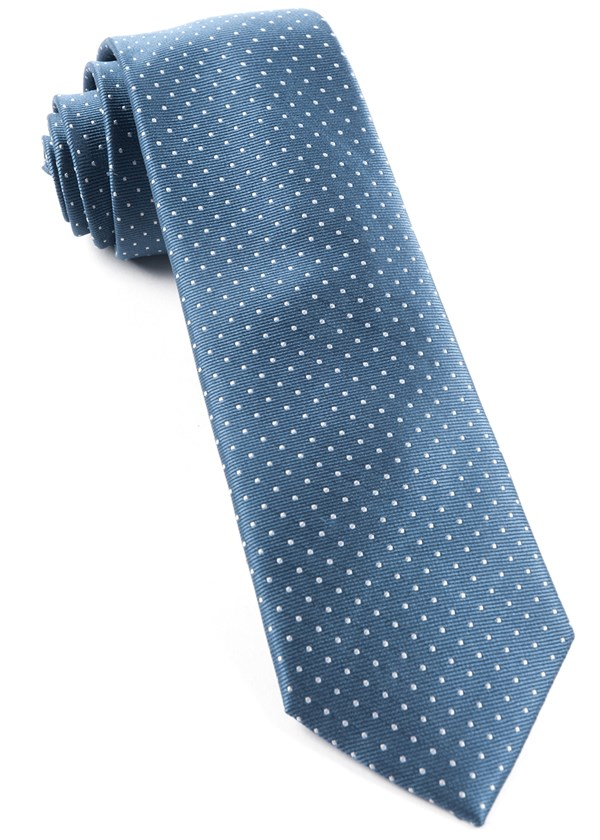 Mini Dots Whale Blue Tie