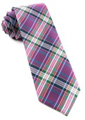 Ties - Paramount Plaid - Magenta