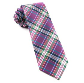 Magenta Paramount Plaid ties