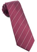 Ties - Pencil Pinstripe - Burgundy