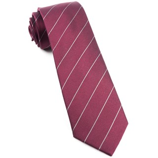 pencil pinstripe burgundy ties