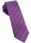 Ties - Pencil Pinstripe - Plum