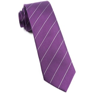 pencil pinstripe plum ties