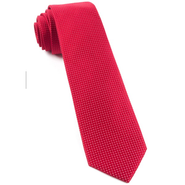 Red Pinpoint Tie