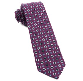 Deep Azalea Printed Floral Replay ties