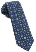 Ties - Printed Floral Replay - Navy