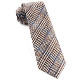 Brown Professor Plaid ties
