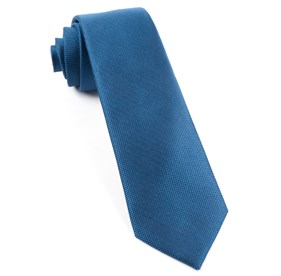 Classic Blue Solid Texture ties