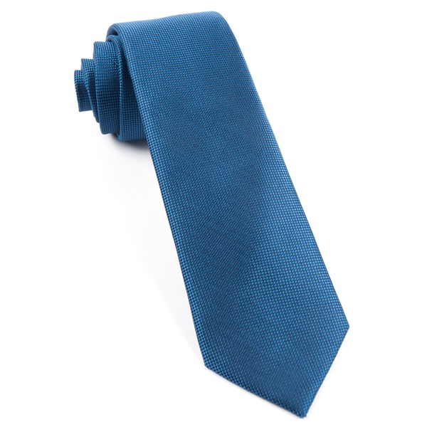Classic Blue Solid Texture Tie