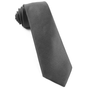 solid texture dark charcoal ties