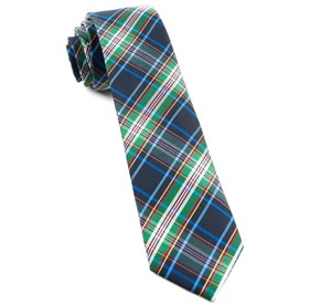 Paramount Plaid Black Ties