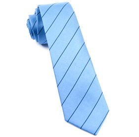 Pencil Pinstripe Light Blue Ties