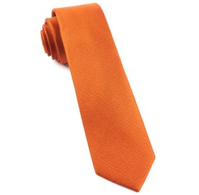 Orange Solid Texture ties