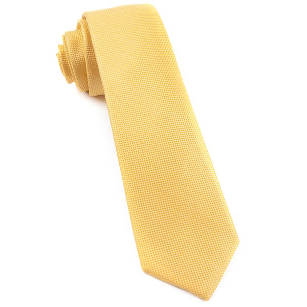 Yellow Solid Texture Tie