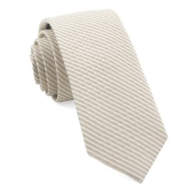 Silk Seersucker Champagne Ties