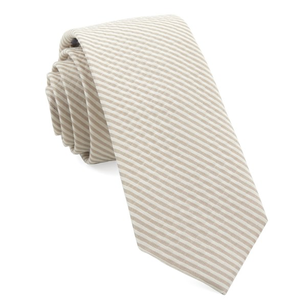 Champagne Bhldn Silk Seersucker Tie