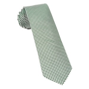 bahama checks hunter green ties