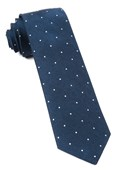 Ties - Bulletin Dot - Navy