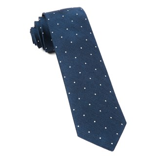 Bulletin Dot Navy Tie