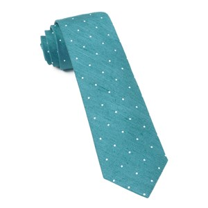 bulletin dot teal ties