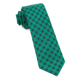 Canyon Checks Kelly Green Ties
