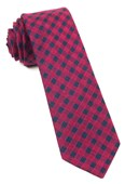 Ties - Canyon Checks - Red