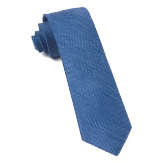 jet set solid french blue ties