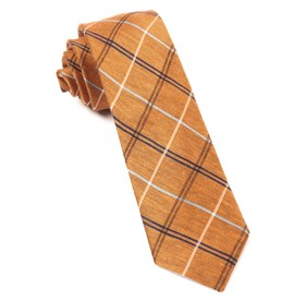 Melon Maui Plaid ties