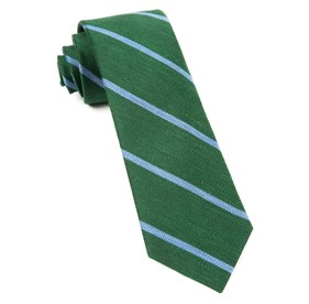Hunter Green Spring Break Stripe ties