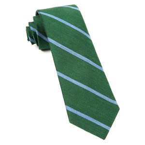 spring break stripe hunter green ties