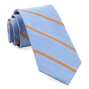 spring break stripe light blue ties