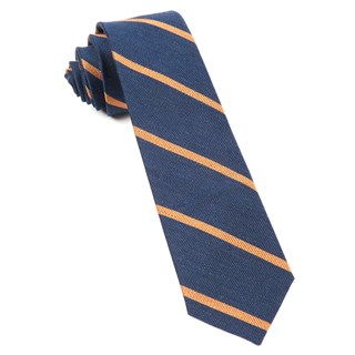 Spring Break Stripe Navy Tie