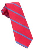 Ties - Spring Break Stripe - Apple Red