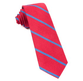 Apple Red Spring Break Stripe boys ties