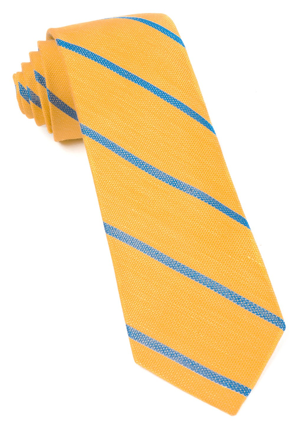 "Spring Break Stripe - Yellow Gold - 2.5"" x 58"" - Ties"