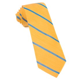 Yellow Gold Spring Break Stripe ties