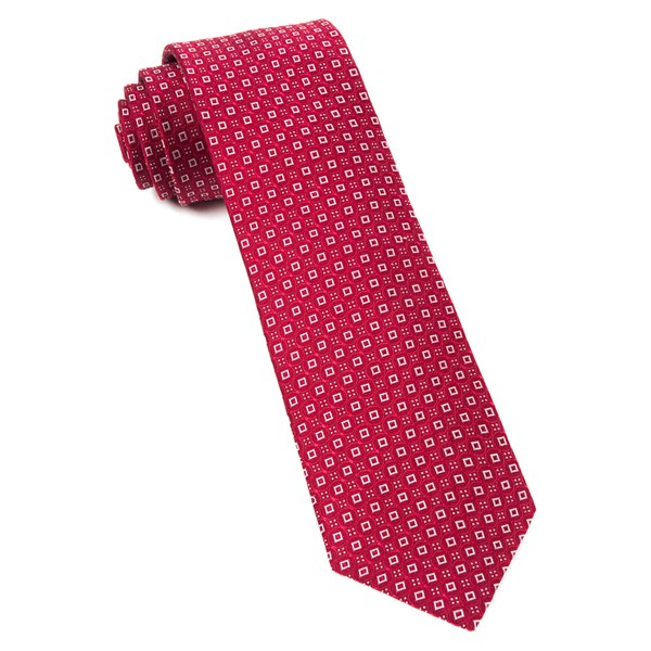 Red United Medallions Tie