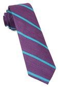 Ties - Spring Break Stripe - Deep Plum