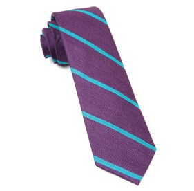 Deep Plum Spring Break Stripe ties