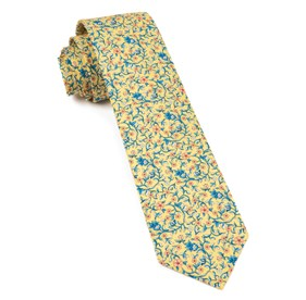 Peninsula Floral Yellow Ties