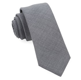 Grey Fine Point Solid ties